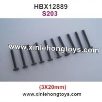 HBX 12889 Thruster Parts Screw 3X20mm S203