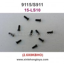 XinleHong Toys 9115 S911 RC Car Parts Countersunk Head Screw 15-LS10 (2.6X8KBHO)-10PCS