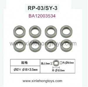 RuiPeng RP-03 SY-3 Parts Ball Bearing1 BA12003534 12X8X3.5mm